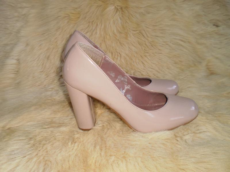 1811676d60b0a7 Бежевые туфли на каблуку/бежеві туфлі на каблучкові, цена - 300 грн ...