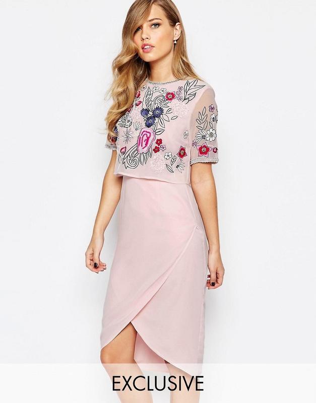 Frock and frill романтична рожево-лавандова вишита сукня Frock and ... 9c4a364e3f3a6