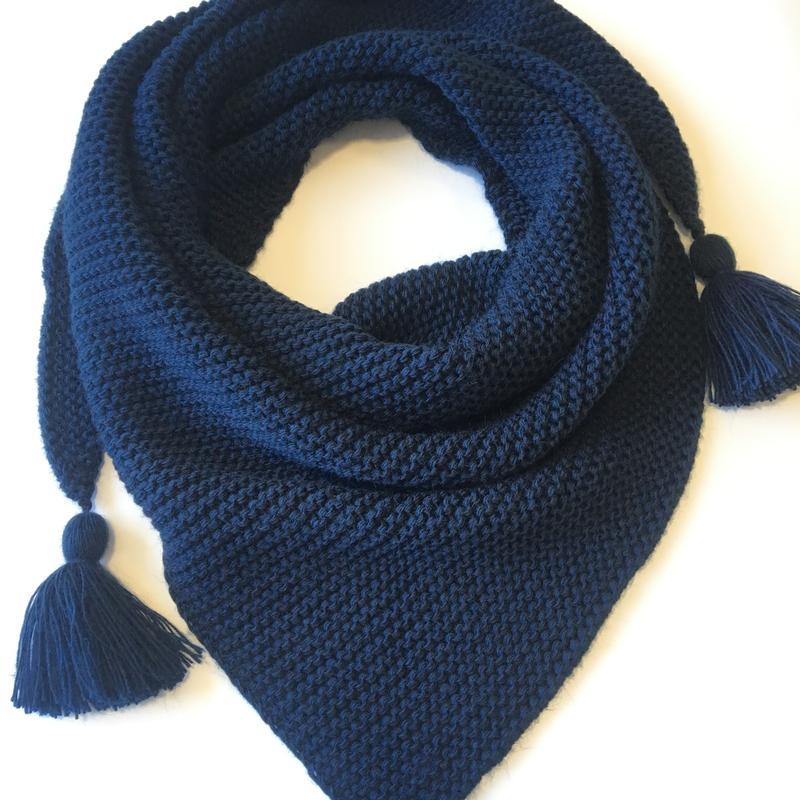 бактус вязаный шарф треугольником зима шарф In Ua цена 200 грн