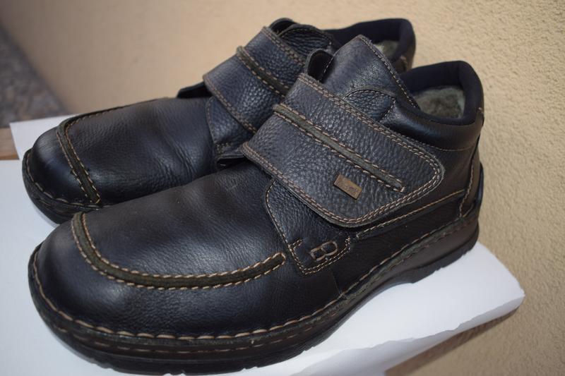 37fc84882831 Кожаные зимние овчина мембранные ботинки риекер rieker tex р.44 29 см1 ...