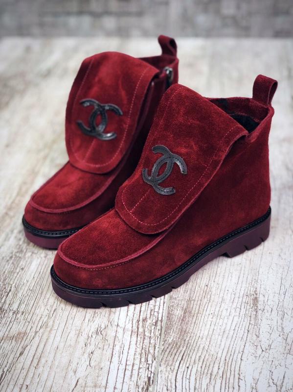 Замшевые зимние ботинки валенки в стиле chanel. 36-40, цена - 1770 ... 5607a9b3ce9