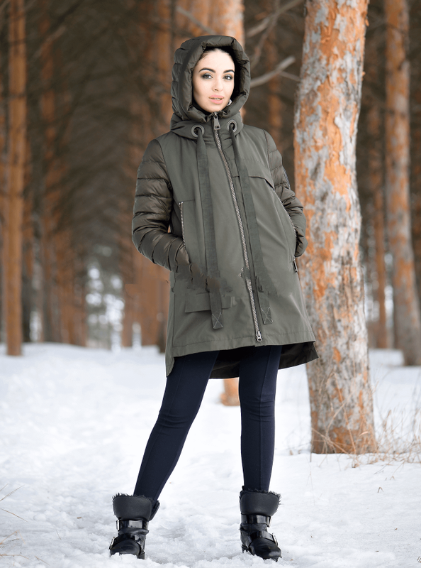 1dd8735f Хит сезона зима 2019 куртка парка зимняя женская clasna cw18d305cw s, m, l,  ...