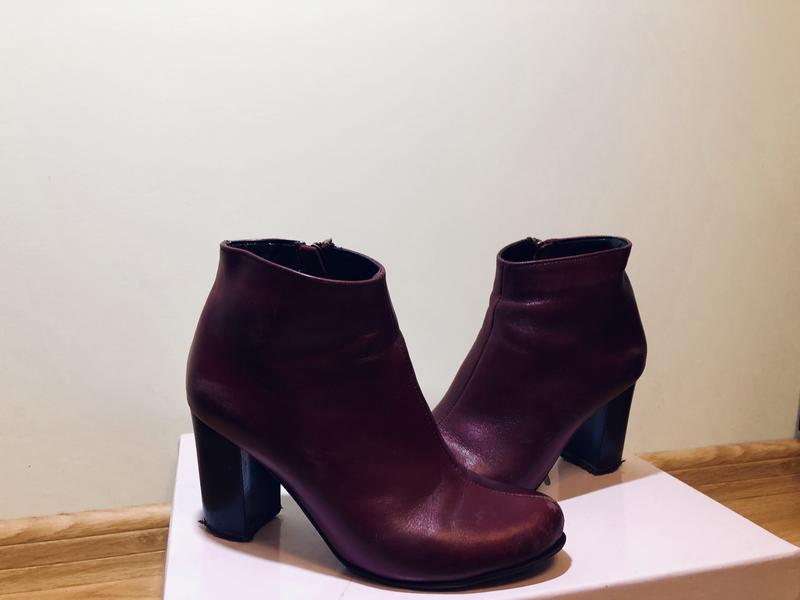 Бордові осінні жіночі чоботи1 ... 22e4937d5b192