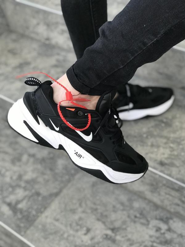 4f91cc8c Отличные мужские кроссовки nike m2k tekno black/ white Nike, цена ...