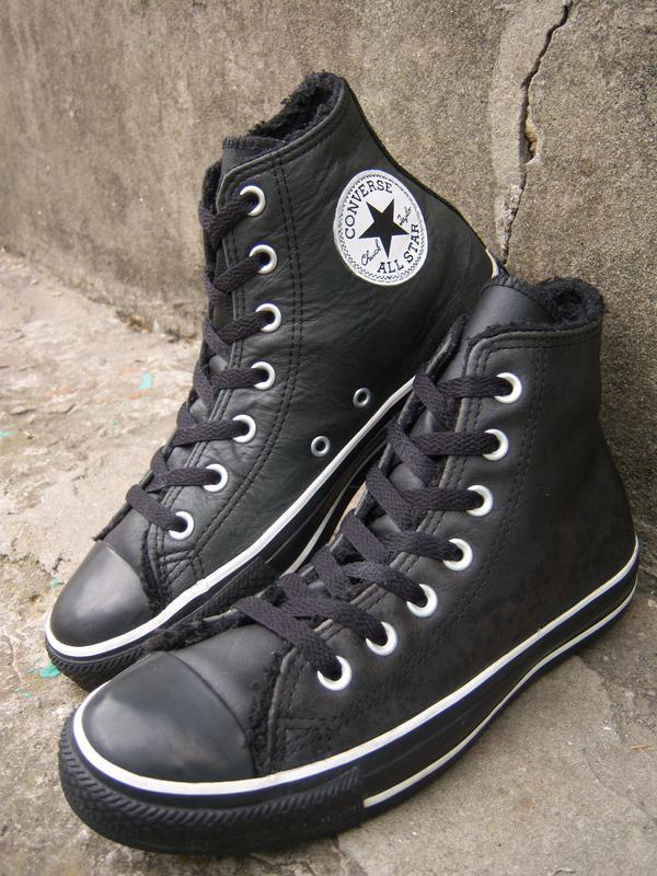 Утепленные кожаные кеды converse (конверс) all star original1 ... ce1ccbb0727bc