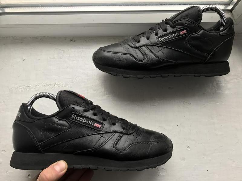 Reebok classic кожаные черные кроссовки 36-37р оригинал Reebok 71ccebeccbb4f