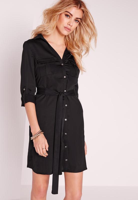 Купить Черное Платье Рубашку