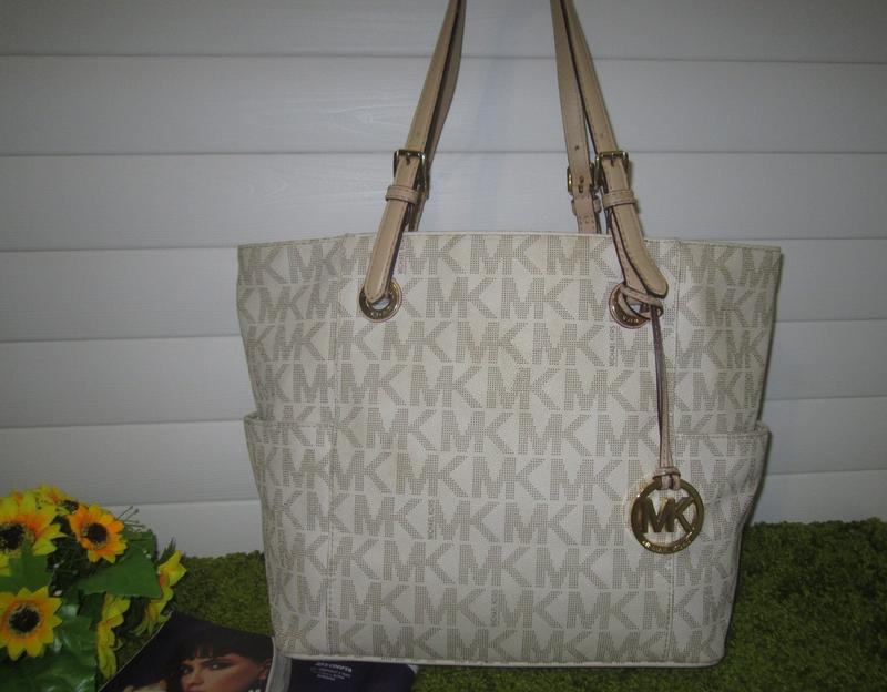 Люкс! большая кожаная сумка шоппер американского бренда michael kors сер №  нат. кожа1 ... 6a94d2dffd68f