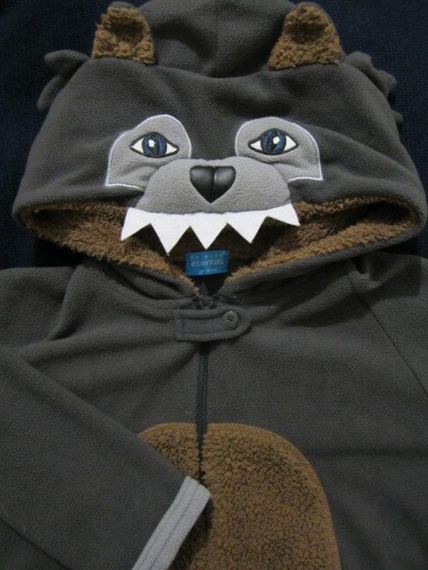 Костюм пижама кигуруми серый волк Primark 7bff95c438d12