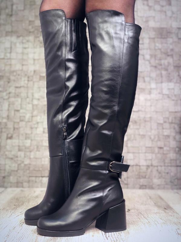 f365ad54f Кожаные ботфорты, осень, зима, размеры 36-40, цена - 2200 грн ...