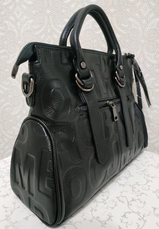 18781e70375b Кожаная черная сумка marc jacobs с ремешком через плечо осень 2018 зима  20191 ...
