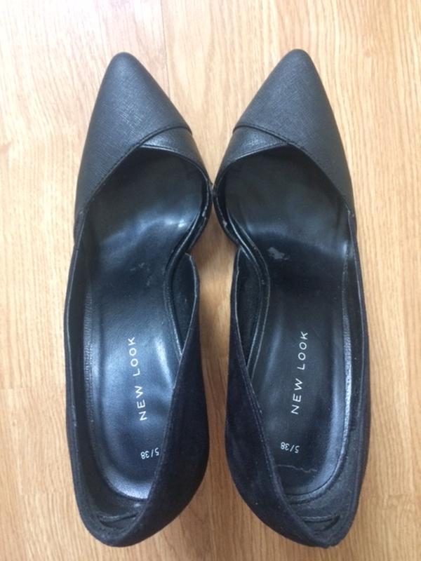 Чудові замшеві туфлі чорного кольору new look New Look 44f183cd39da8
