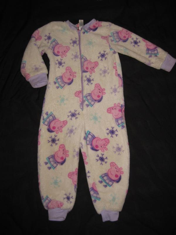 3d30558f97a0 2-3 года, махровая пижама слип с пеппой, поддёва, домашний костюм1 фото ...