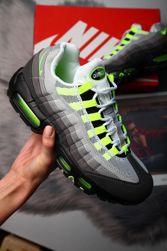 c4a18857 41-45 nike air max 95 og neon мужские кроссовки рефлективные осенние1 фото  ...