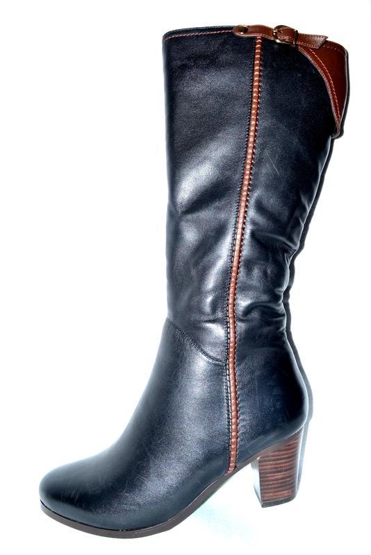 a724213b3 Новые сапоги женские зимние черные кожаные arigi со скидкой, натуральный  мех, цегейка1 ...