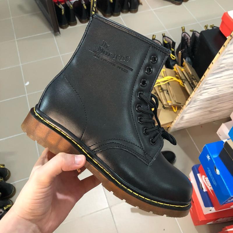 36-40 шикарные женские ботинки dr. martens 1460 black  мех  зимние теплыее1  ... 65c9efb560a6c