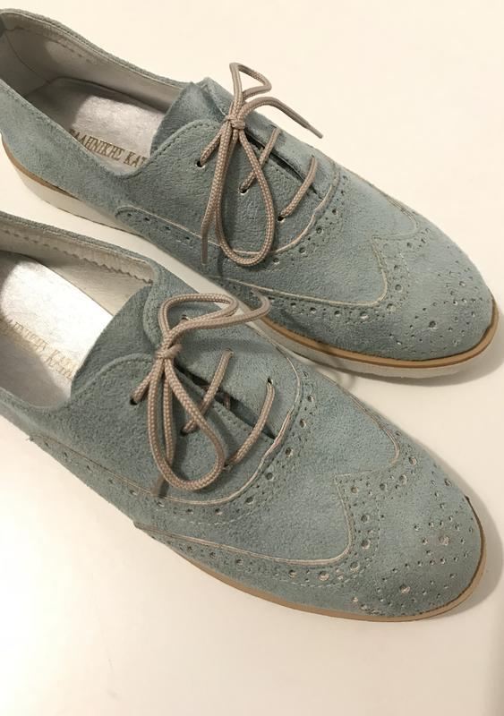 efb8422600fe58 Замшевые туфли-оксфорды цвета тиффани Atmosphere, цена - 280 грн ...