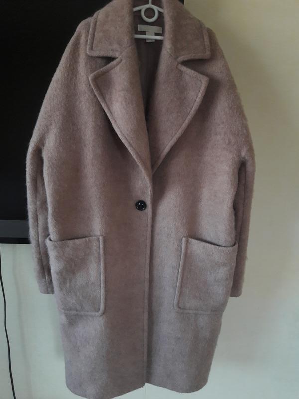 1cb197724d3 Пальто кокон оверсайз шерсть h m1 фото ...
