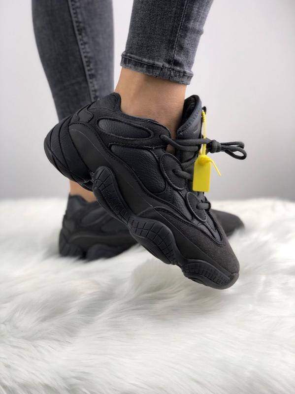 764219b6a71 Зимние кроссовки adidas yeezy 500 utility black с мехом! унисекс (мужские   женские) ...
