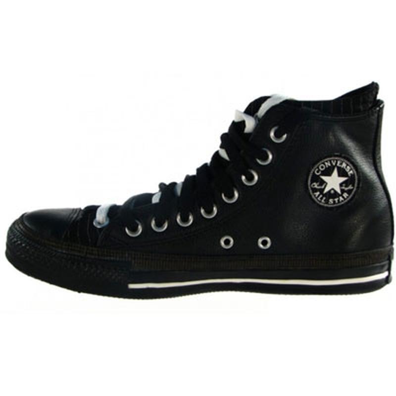 b93c8abe Кожаные чёрные кеды converse с двойной шнуровкой 37,5 р стелька 24 см1 ...