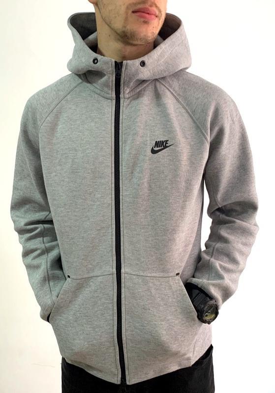 16dd54b3 Шикарная мужская олимпийка nike tech fleece grey (кофта/толстовка/худи/балахон/  ...