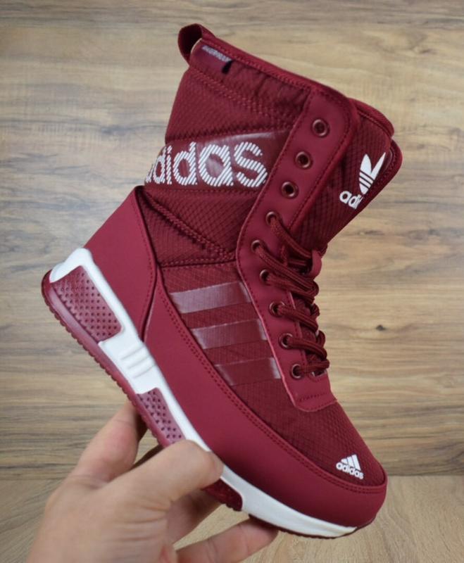 a85941ef Шикарные женские зимние дутики/ сапоги/ ботинки adidas с мехом!1 фото ...