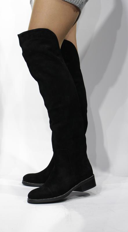 Шикарні замшеві зимові сапожечки-ботфорти respect 1ce81f0bcb1b9