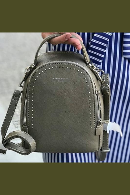 c77c49820a59 Стильный клатч-рюкзак david jones 5806-2 taupe (серо-коричневый/хаки ...