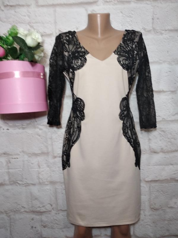 874926abe99 Платье миди с кружевными вставками р12- 14 lipsy1 фото ...