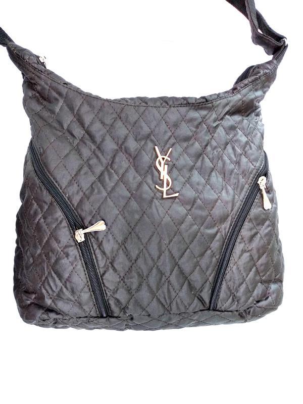 f33000d2ce17 Стеганая женская сумка мешок через коричневая, цена - 160 грн ...
