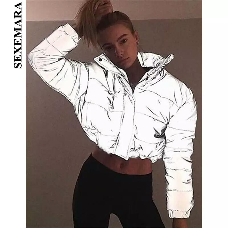 6eef021c4a17 Рефлективная куртка дутая светоотражающая с высоким горлом, цена ...