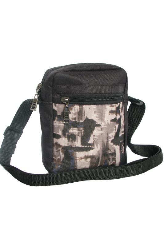 daa39d424e36 Мужская сумка, барсетка, сумка-мессенджер, цвет чёрный с