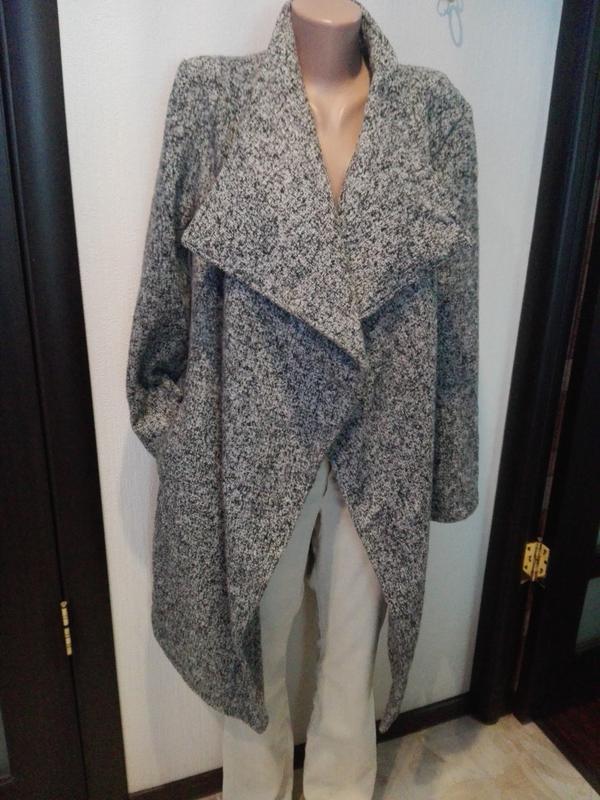 Классное пальто кардиган без подкладки серое1 ... eae0598bebbc7