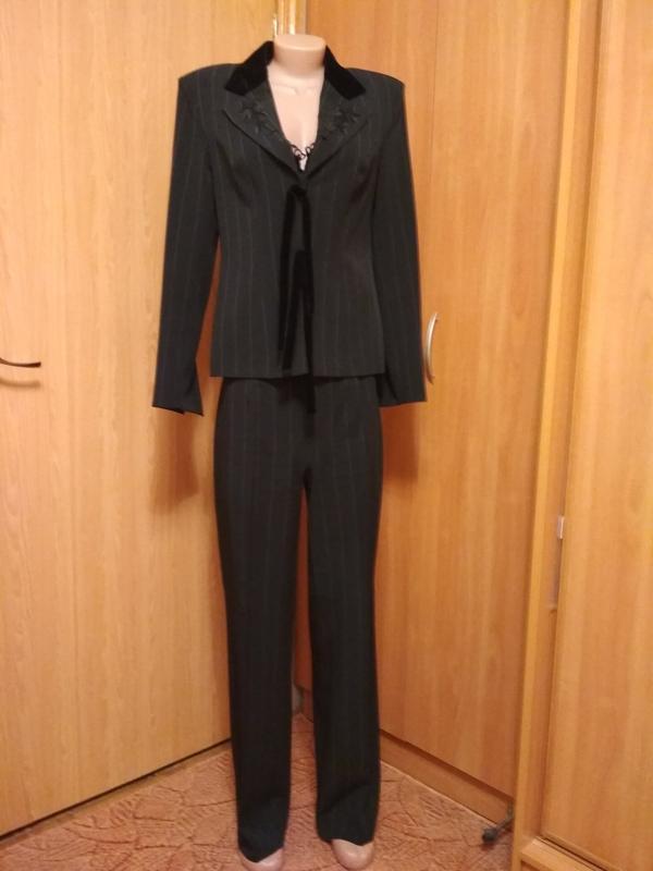 ffa6758d7a65 Деловой женский брючный костюм, черный, elen, италия, цена - 400 грн ...