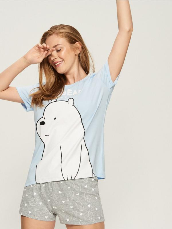 Новая пижама футболка шорты sinsay we bare bears белый медведь мишка мульт  xs m l1 ... 5c8604a0cdbd8
