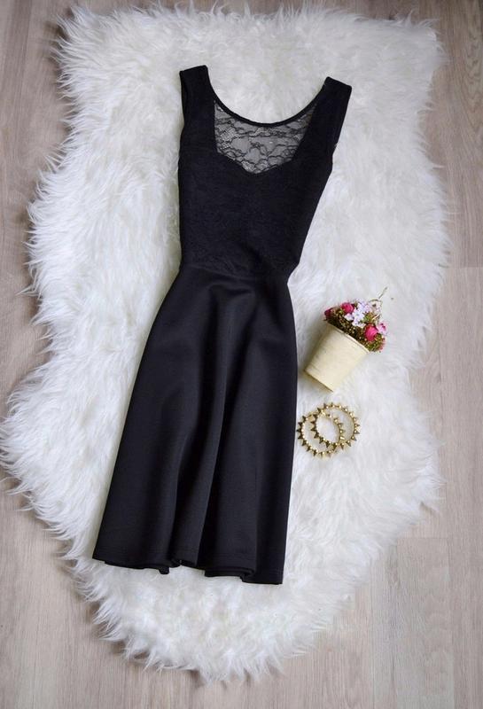 Черное платье с гипюром и открытой спиной от h m  нарядное вечернее платье1  ... ce7149a1493