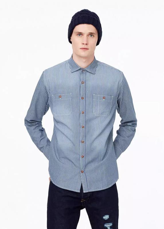 43cc7f08a80 Сорочка рубашка под джинс mango man розмір l1 фото ...
