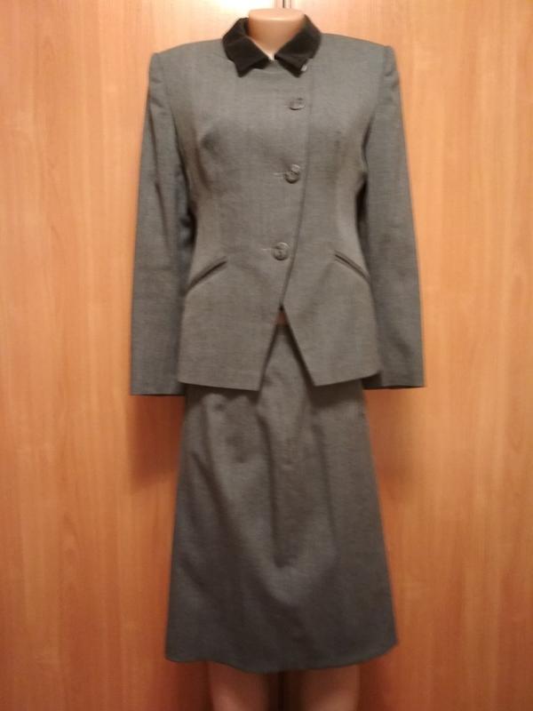 d9094e9f970b Деловой женский шерстяной костюм, пиджак и юбка, размер-l / 481 фото ...