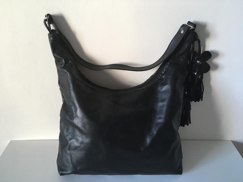 Вместительная сумка хобо, натуральная кожа, цена - 355 грн ... db166fb0fc7