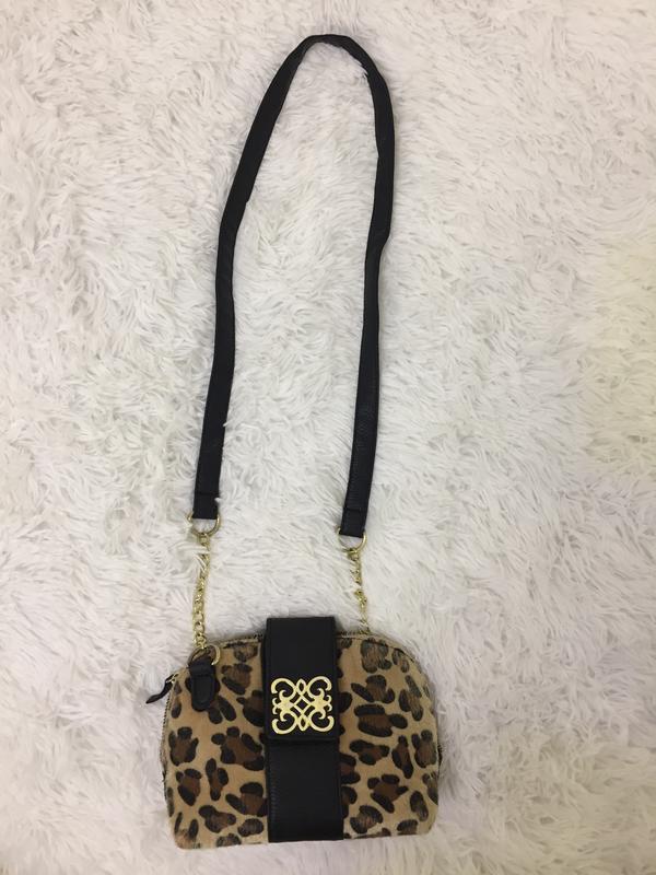 f30917109776 Леопардовая маленькая сумка клатч кроссбоди тренд Atmosphere, цена ...
