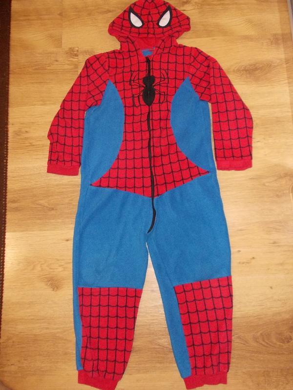 Пижама кигуруми слип человечек человек паук на 7-8 лет рост 122-128 см1 ... c11846352c0a5