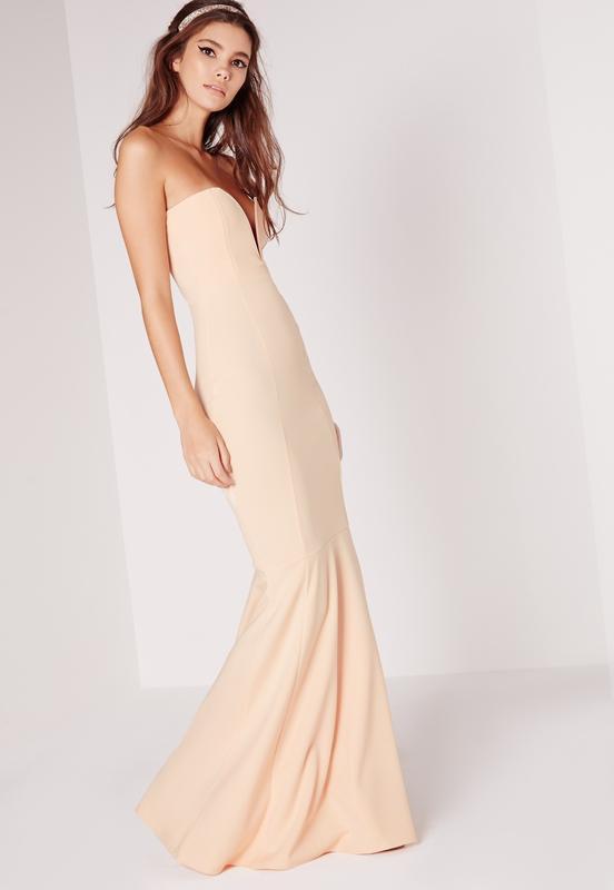 f11a4077d50 Роскошное вечернее платье-рыбка шлейфом бандо missguided a11921 ...