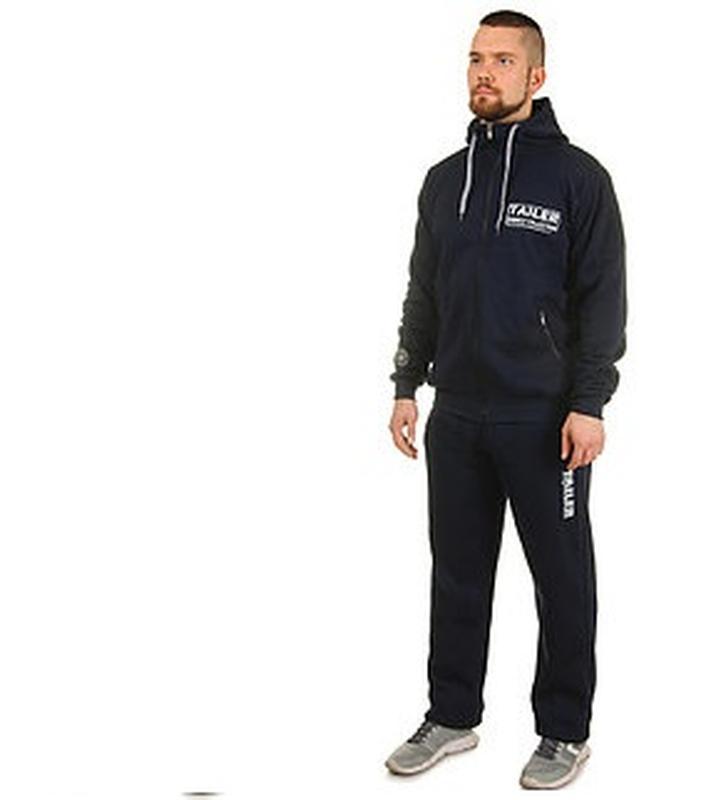 a868ed920a1 Теплый трикотажный мужской спортивный костюм с капюшоном реглан