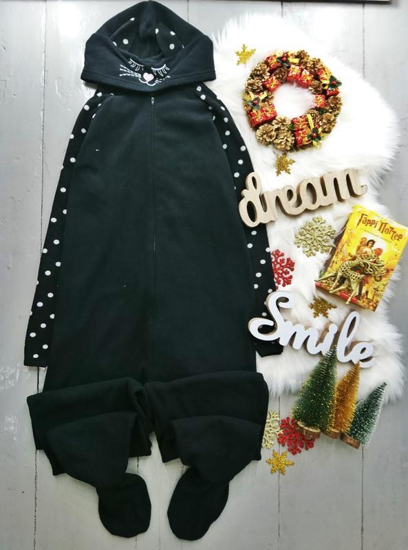 Теплый флисовый кигуруми комбинизон слип пижама черный кот Love To ... d5da6b18295a0