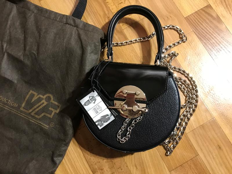 6a95aeb2ce06 Новая черная кожаная сумка (круглая) мини. vif. 100% натуральная кожа1 фото  ...