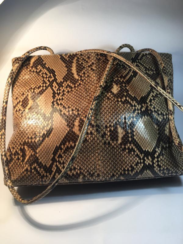 0fcb34f7d5ea ... Эксклюзивная кожа питона!кожаная сумка люкс класса, натуральная кожа  питона, италия2 фото ...