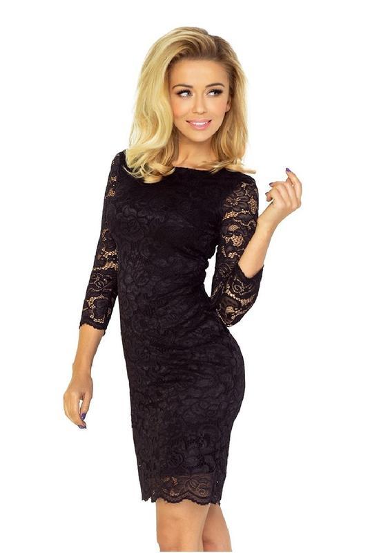 5e306e47cc2 Шикарное черное облегающее ажурное кружевное платье футляр с длинным  рукавом от h m m-s1 фото ...