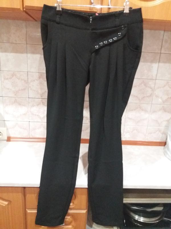 Черные плотные брюки voolya р. 38 44 m Турция 546c5aaece90e