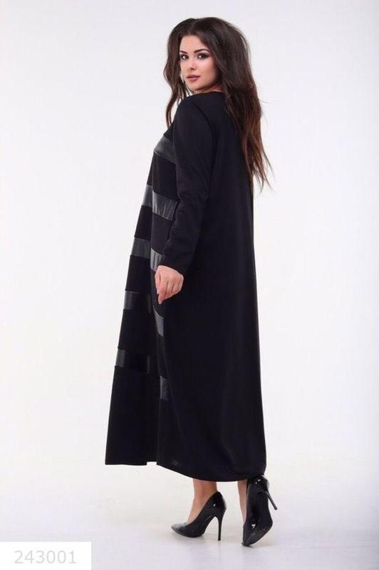 4355a684844 ... Женское трикотажное длинное черное платье