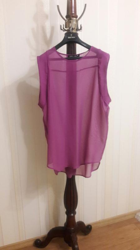 3cd0315afaf Шифоновая фиолетовая воздушная блузка туника оверсайз Love Label ...
